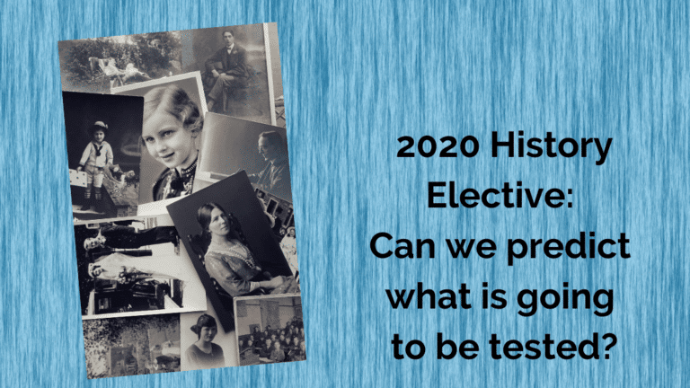 2020 History Elective: Can we predict what is going to be tested?