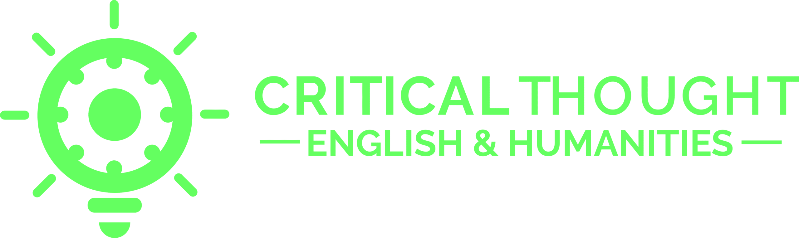Critical Thought English and Humanities