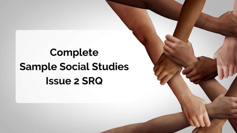 Complete Sample Social Studies Issue 2 SRQ