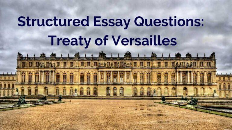 Treaty of Versailles: 5 SEQ Samples